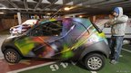 Car with graffiti. Pic: Ewen Weatherspoon