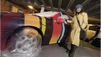 Car with graffiti. Pic: Ewen Weatherspoon