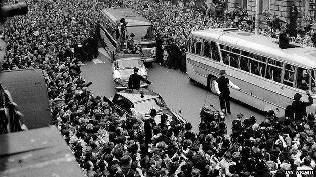 The Beatles arrive in Sunderland, 1963