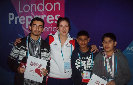 Taekwondo world champion Sarah Stevenson with School Reporters