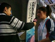 School Reporter Ajmal puts questions to Sarah Stevenson