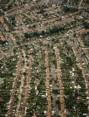 Aerial view of suburban housing (Image: Science Photo Library)