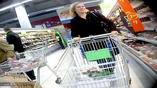 Sophie Raworth shopping - secret filming