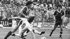 Martin O'Neill evades the attentions of a Hamburg SV player in the 1980 European Cup final