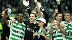 Martin O'Neill celebrates Celtic's 2001 Scottish league title victory