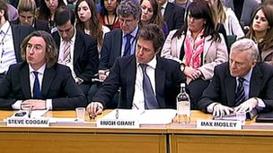 Steve Coogan, Hugh Grant, Max Mosley giving evidence