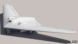 This undated handout image courtesy of Truthdowser, shows a rendition of a Lockheed Martin RQ-170 Sentinal drone
