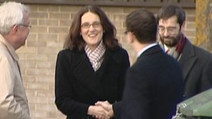 Transport Minister Theresa Villiers visiting Bicester on Monday