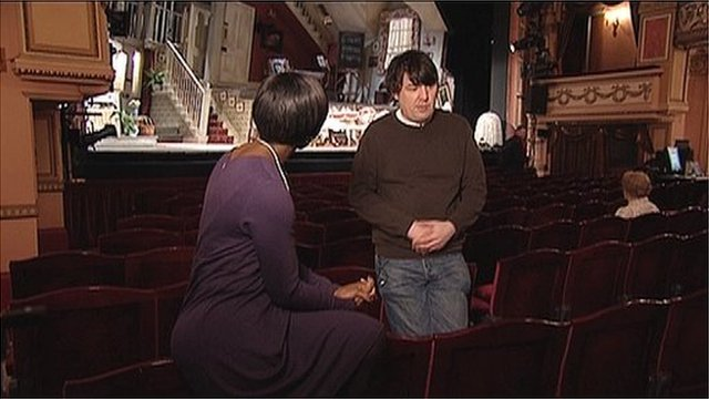 BBC London&#039;s Brenda Emmanus with Graham Linehan, who has adapted The Ladykillers for the stage