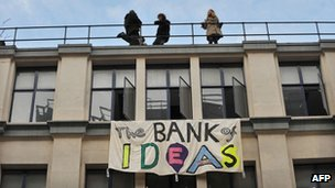 The occupied Hackney building