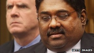 Raj Rajaratnam exits Manhattan Federal Court after a sentencing hearing on 13 October 2011