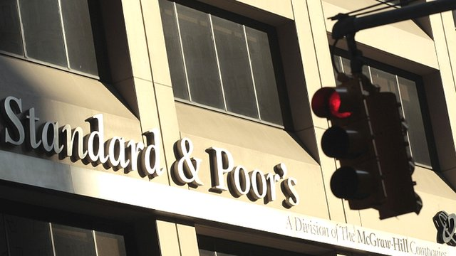 """Standard and Poor""""s building in New York - file photo"""