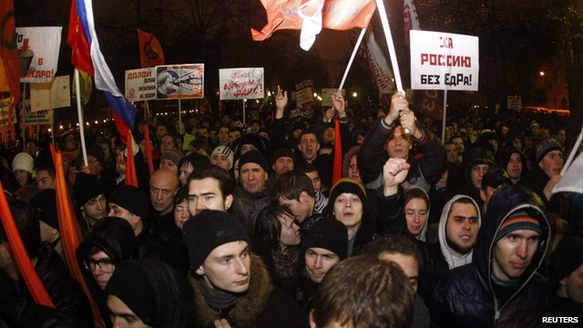 Opposition protest in central Moscow