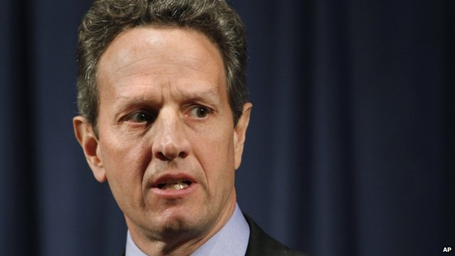 The US Treasury Secretary, Tim Geithner