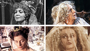 Clockwise: Maxine Audley, Joan Hickson, Helena Bonham Carter and Charlotte Rampling as Miss Havisham