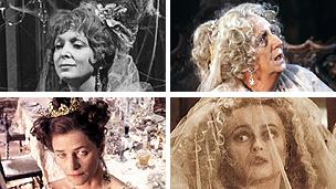 Clockwise: Maxine Audley, Joan Hickson, Helena Bonham Carter and Charlotte Rampling as Miss Havisham