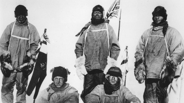 Photo of Captain Scott's expedition to the South Pole