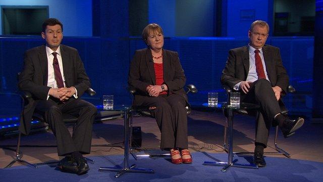 Ken Macintosh MSP, Johann Lamont MSP and Tom Harris MP