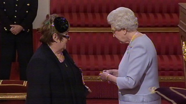Jenni Murray and Queen Elizabeth II