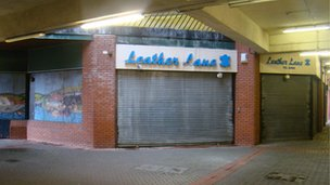 Empty units in the St David's Shopping Centre