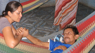 A CKD patient in Bajo Lempa in El Salvador