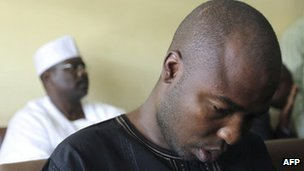 Ali Sanda Umar Konduga (front row) and  Ali Ndume in court on 23 November