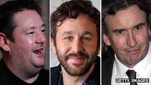 Johnny Vegas, Chris O'Dowd and Steve Coogan
