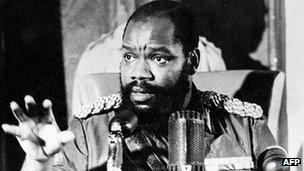 Nigerian secessionist leader Chukwuemeka Odumegwu-Ojukwu (16 January 1970)