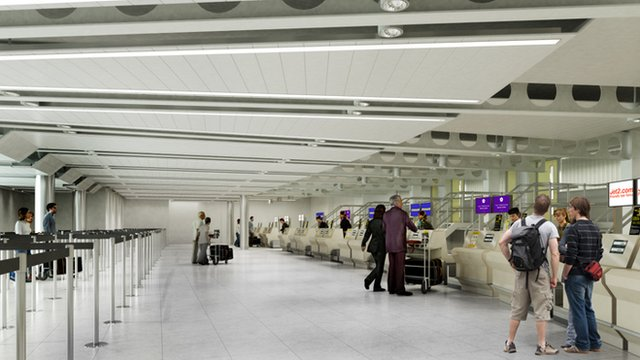 An impression of the new check-in area at Leeds Bradford Airport