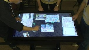 People use the Domesday Project touchtable