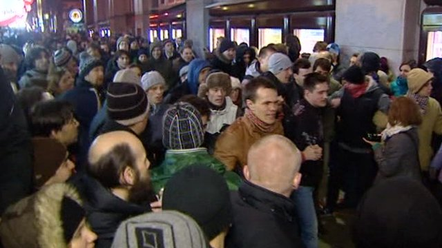 Protesters in Russia