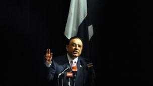 File photo of President Asif Ali Zardari in November 2010
