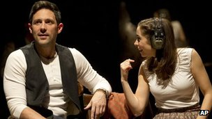 Steve Kazee and Cristin Milioti in Once the Musical