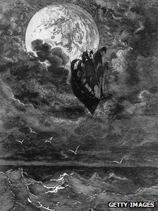 Gustav Dore illustration of ship sailing to the Moon