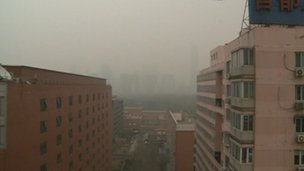 Beijing in the smog