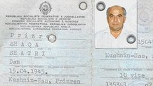 Mr Kumbaro's fake passport