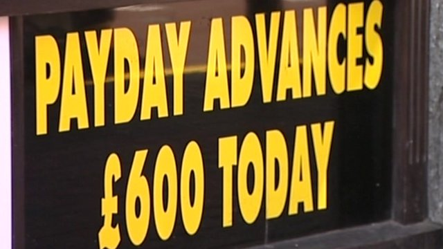 Payday loan company sign