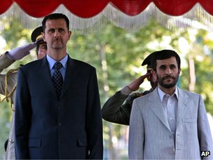 Bashar al-Assad and Iranian President Mahmoud Ahmedinejad (2005)