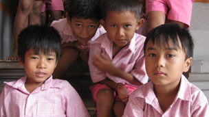 Children at an orphanage