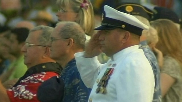 Ceremony at Pearl Harbor