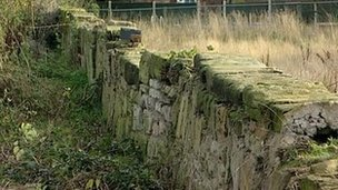Wall in Castle Donington