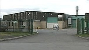 Jeyes factory in Mold, Flintshire