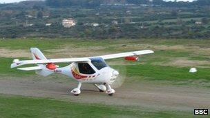 A propeller plane