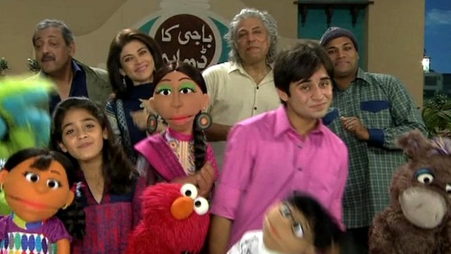 The cast of Sesame Street in Pakistan