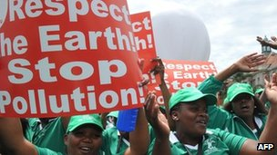 Environment activists in Durban. Photo: December 2011