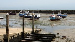 Boats in Folkestone Harbour