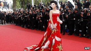 Chinese actress Fan Bing Bing on the red carpet in Cannes on 11 May 2011