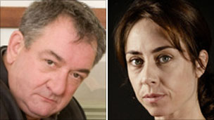 Ken Stott as Inspector John Rebus and Sofie Grabol as The Killing's Inspector Sarah Lund