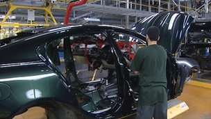 Car production at Jaguar