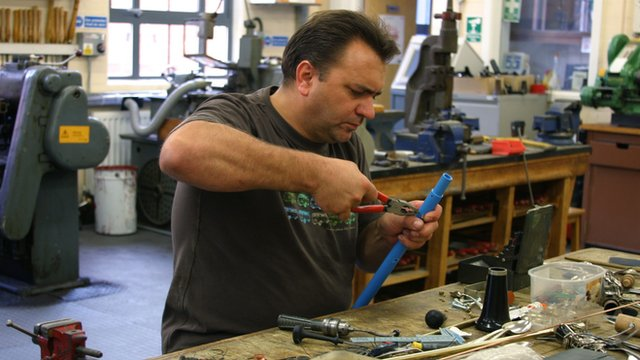 Andy Wheeldon making a clarinet
